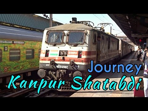 NEW DELHI To KANPUR CENTRAL : Full Journey | On-Board 12034 NDLS-CNB Shatabdi Express