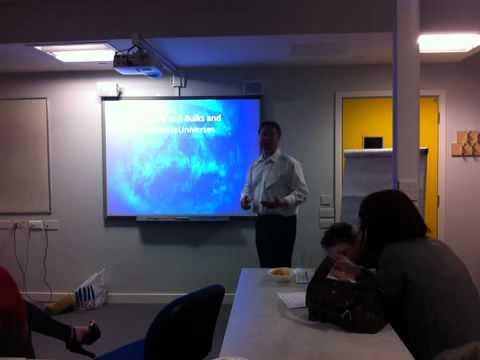 Darren Smithson (@darreninform) Talks at Cafe Scientifique, Royston Barnsley