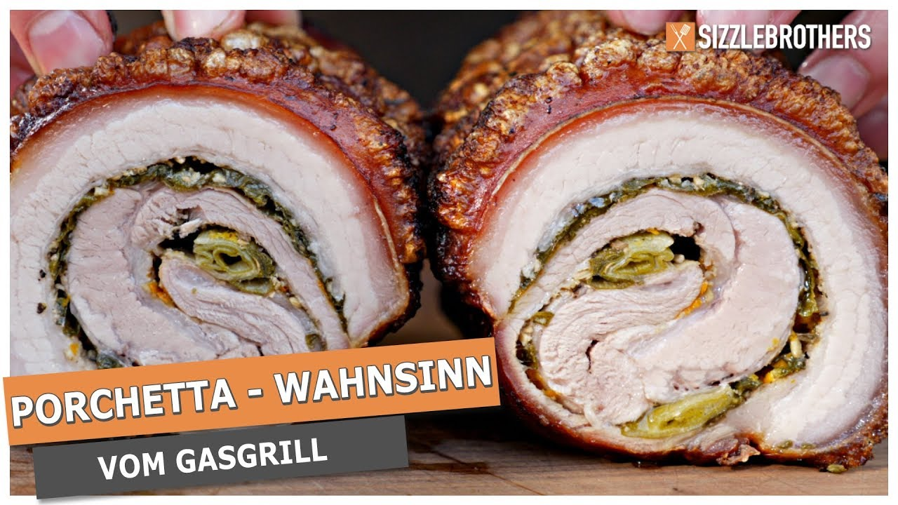 Pulled Pork Gasgrill Rotisserie : Porchetta grillen auf dem gasgrill der krusten wahnsinn! youtube