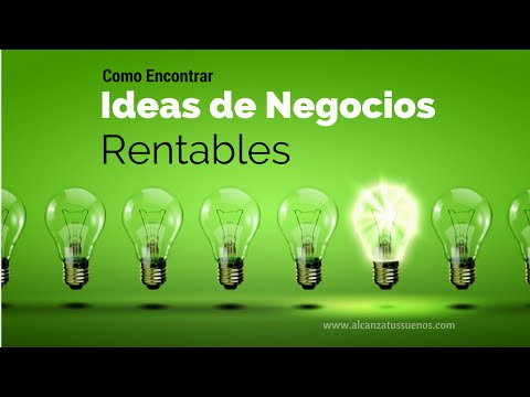 IDEAS de NEGOCIOS RENTABLES. Como empezar un NEGOCIO CON FUTURO. Como ENCONTRAR IDEAS