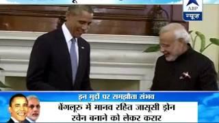 Obama in Hyderabad House: Modi-Obama to have one-on-one talks in Hyderabad house