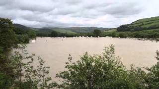 Caravan Park Devastated by Floods in Aberystwyth, Wales
