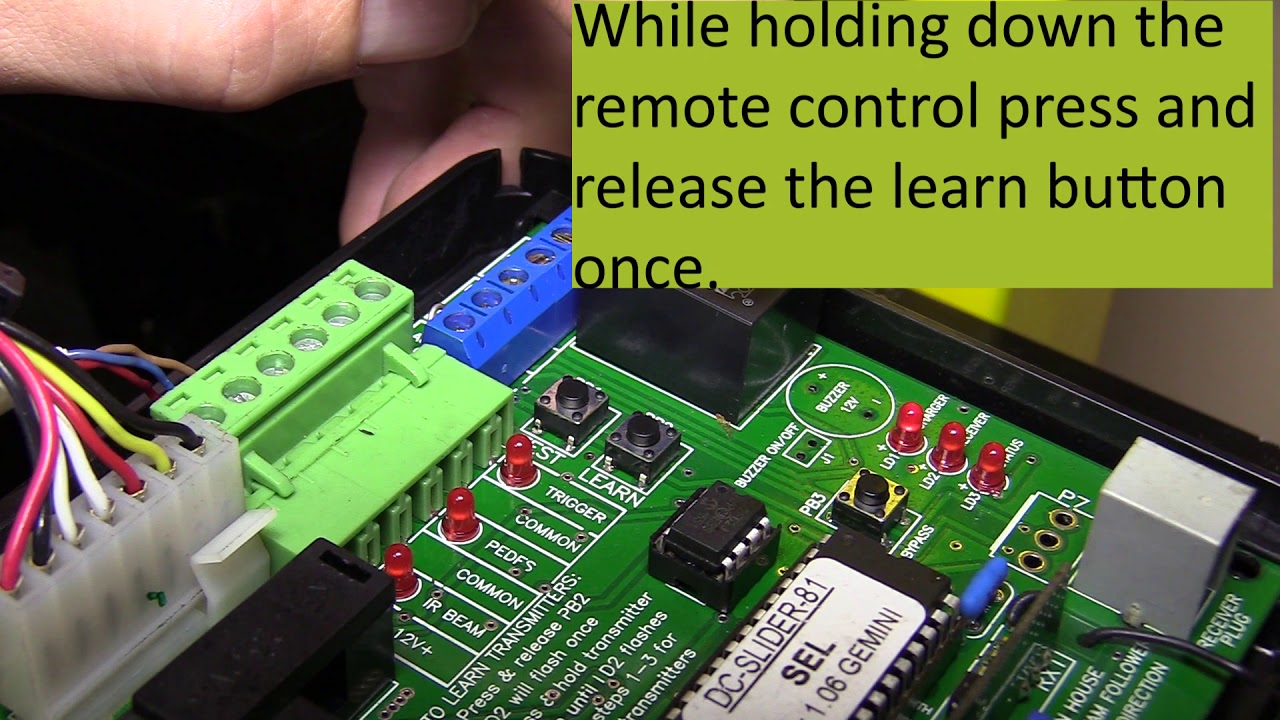 How To Program Gemini Remotes On A Gemini Gate Motor