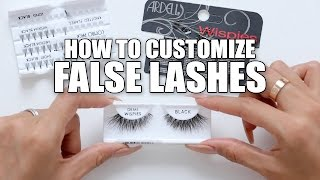 HOW TO CUSTOMIZE FALSE LASHES | DESI PERKINS