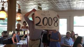 Bride's Family Surprises Bride and Groom with Hamilton Inspired Toast