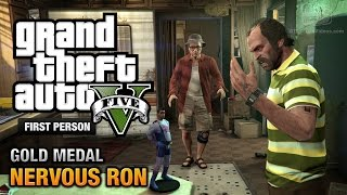 GTA 5 - Mission #19 - Nervous Ron [First Person Gold Medal Guide - PS4]