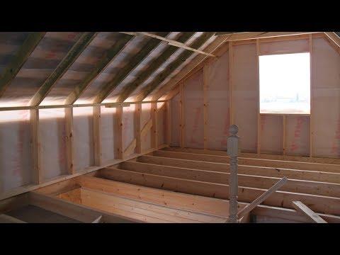 Строительство каркасного дома 6 на 8. День 24. Об окнах и лестнице.