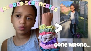 Colored Scrunchies Pick My Outfit For A Week! It's Aleisha