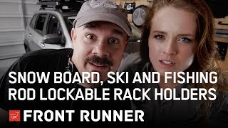 SNOW BOARD, SKI and FISHING ROD LOCKABLE RACK HOLDERS - by Front Runner