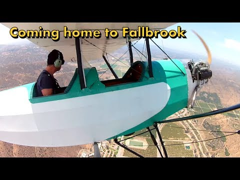 Flying the Aircamper to Fallbrook - GN-1 / Pietenpol Flight VLOG