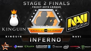 Kinguin vs NaVi - Map 2 - Inferno (FACEIT Stage 2 Finals)(Play on FACEIT for free: http://www.faceit.com FACEIT on Twitter: http://www.twitter.com/faceit FACEIT on Facebook: https://www.facebook.com/FaceitCommunity ..., 2015-07-18T09:30:33.000Z)