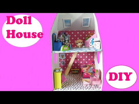 DIY 2-Story Doll House from a Build a Bear Box for LPS or MLP