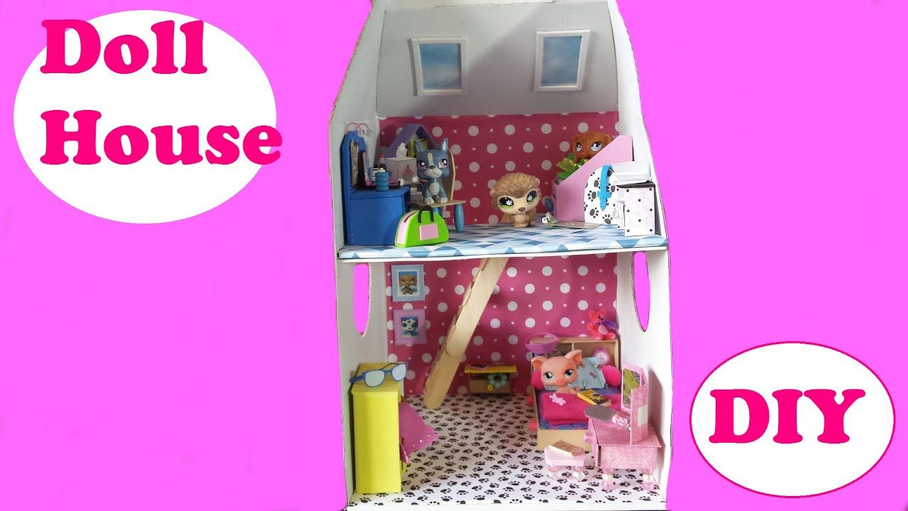 Diy 2 story doll house from a build a bear box for lps or for Supplies to build a house