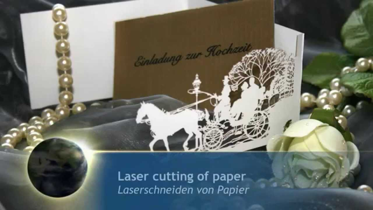 la d coupe laser de cartes d invitation en papier eurolaser youtube. Black Bedroom Furniture Sets. Home Design Ideas
