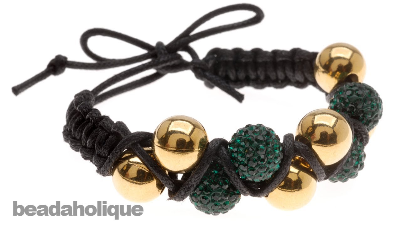 How to Make a Zig Zag Double Shambhala Bracelet