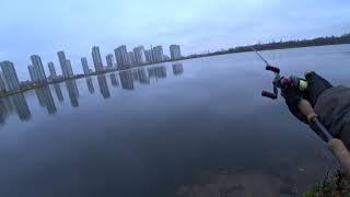 Рыбалка в СПБ. Street Fiishing . закрытие сезона на домашних карьера .х