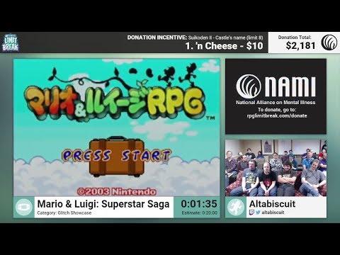 Mario & Luigi: Superstar Saga (All Bosses) by Altabiscuit (RPG Limit Break 2016 Part 1)