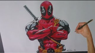 How to Draw Deadpool - Marvel Comic