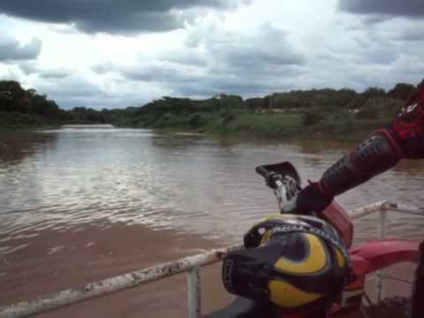 Trilha de Moto - Atravessando o Rio Gorutuba - Janaúba - MG