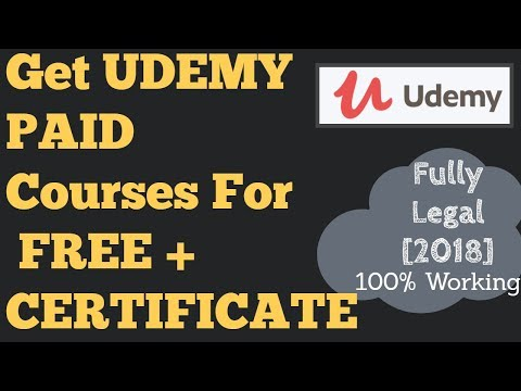 Paid Udemy courses for free [2018] Download Udemy paid courses for free + get udemy certificate