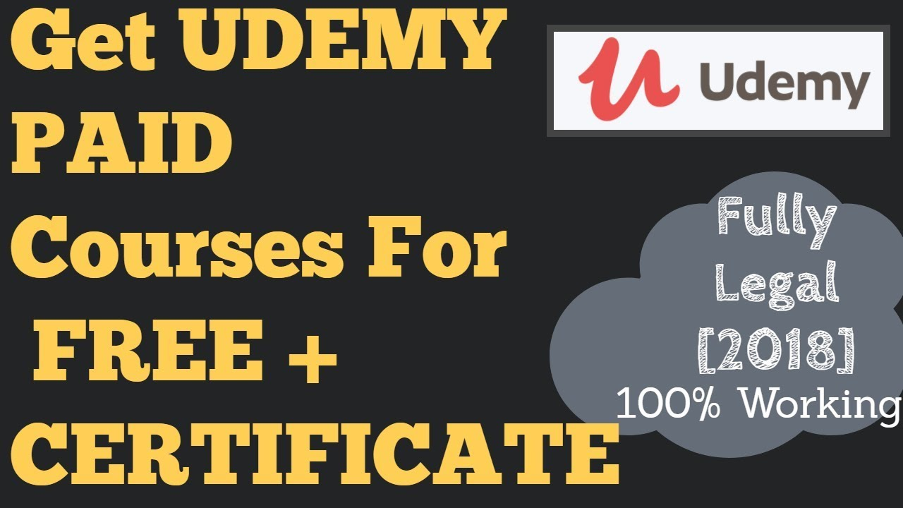Download Paid Udemy courses for free 2019 | Get Udemy courses for free +  get udemy certificate