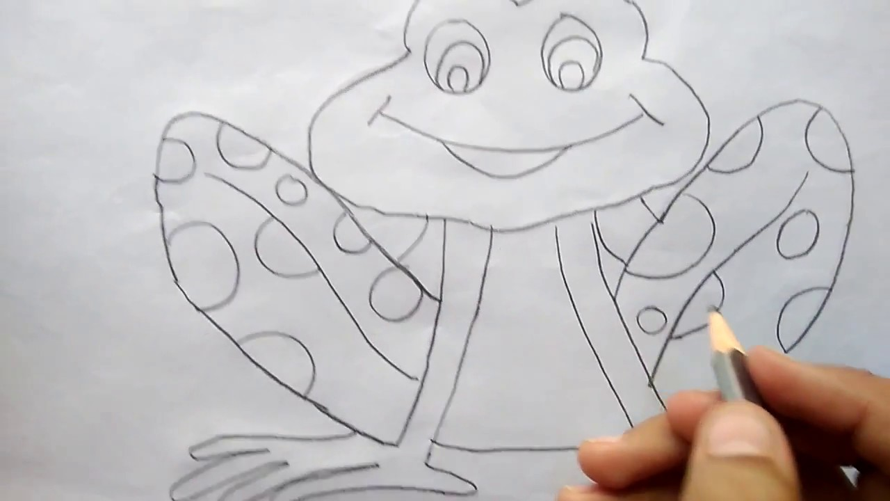 How To Draw So Cute Frog In Very Easy Way Step By Step Drawing