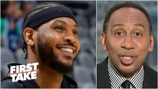 Stephen A. reacts to Carmelo Anthony moving to 10th on the NBA scoring list | First Take