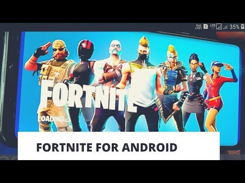 Download the Fortnite for Samsung Android Phone | Playing Fortnite first time on Android