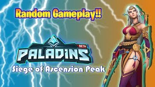 Let's Play Paladins Siege of Ascension Peak - Random Gameplay