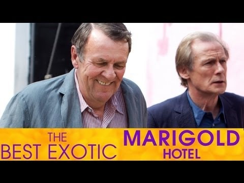 Penelope Wilton and Tom Wilkinson Interview - The Best Exotic Marigold Hotel