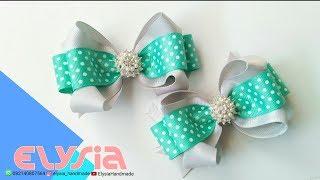Laço Boutique 2 Loop ???? Super Loopy Bow Grosgrain Ribbon 2,5cm ???? DIY by Elysia Handmade