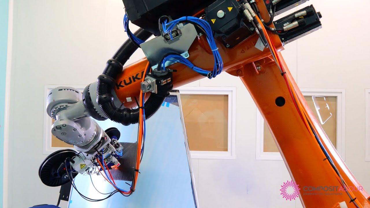 Addcomposites installs AFP-XS at Compositadour and integrates humm3 flash lamp