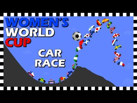 Women&39;s World Cup France 2019 - Car Race - Country Cars - Algodoo