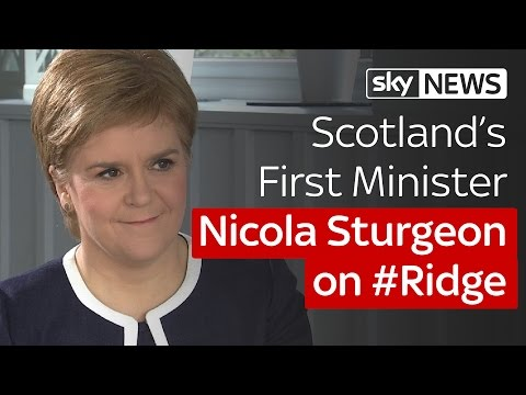 #Ridge Scotland special: Nicola Sturgeon