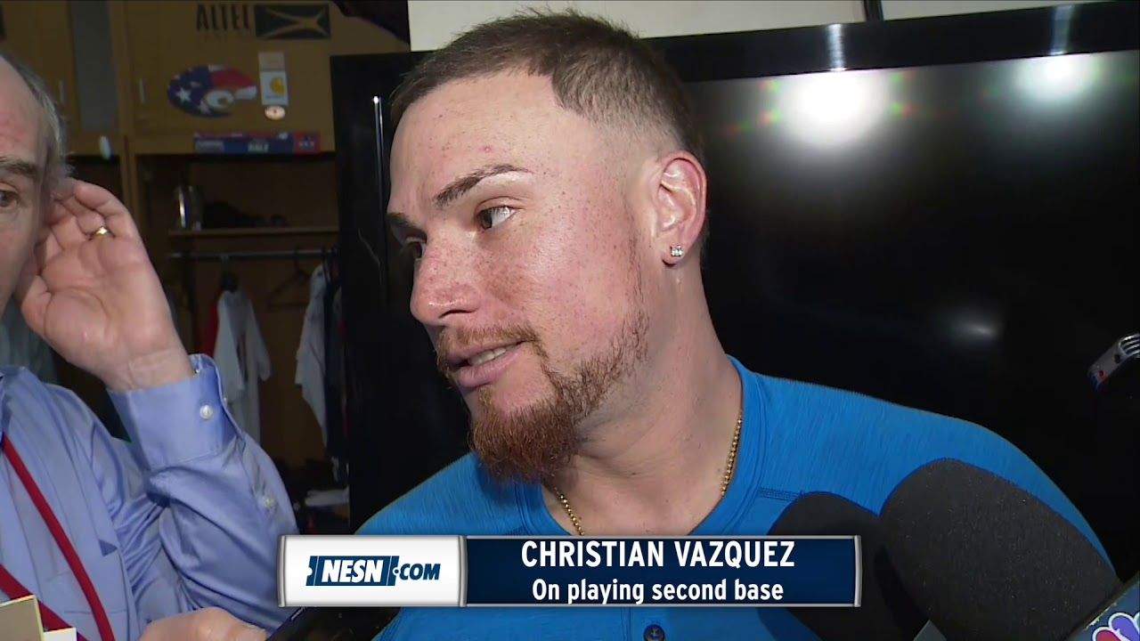 Christian Vazquez Makes First Career Start At Second Base