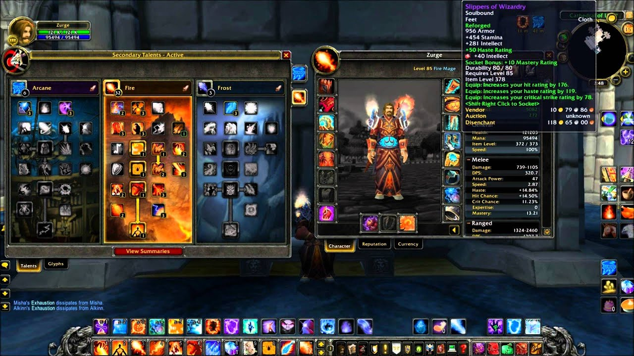 Fire Mage Dps Guide 4 3 Pve Youtube