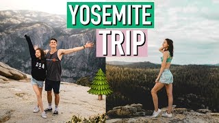 WE MADE IT TO YOSEMITE! TRAVEL VLOG!