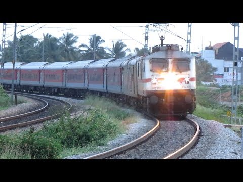 [HD]: New ERA | Tremendously Accelerating Bangalore Rajdhani | LGD WAP 7 | Indian Railways