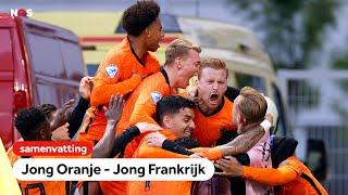 Wat een ontknoping!🔥    samenvatting Jong Oranje - Jong Frankrijk   EK voetbal -21