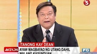 Gambar cover Itanong kay Dean | Ayaw magbayad ng utang dahil walang kasunduan