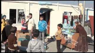 Sýrie - Turecko - uprchlíci - kontejnery