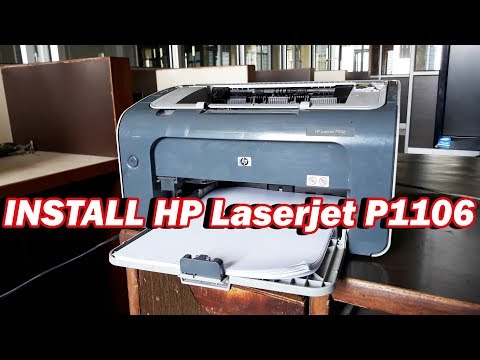How To Download & Install HP LaserjetP1106 Printer Driver Configure It And Print Easily