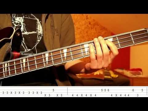Jamiroquai  Runaway Bass Tutorial with TABS on screen