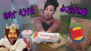 Burger King Whopperito | mukbang (ASMR)