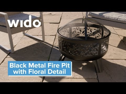Wido Floral Metal Fire Pit Product Video (FPIT2)
