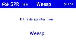 NS omroep SNG / Flirt Utrecht Centraal - Weesp.
