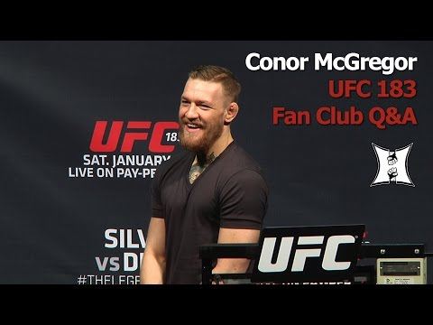 UFC 183 Q&A: Conor McGregor Talks More Smack About Aldo To Drunk Fans