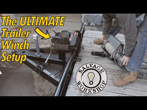 Restoring The FRONT Of An OLD Trailer ~ The ULTIMATE Trailer Winch Setup ~ A THANK YOU For A Friend!