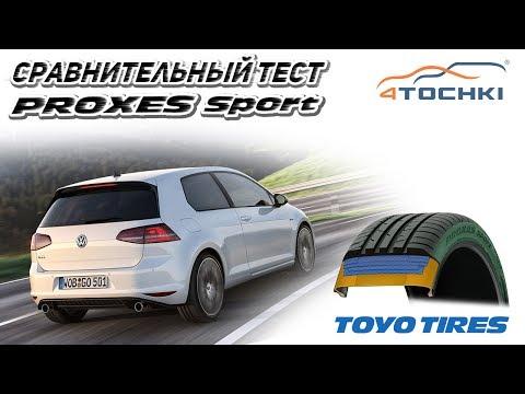 Toyo Proxes Sport сравнительный тест с Proxes T1 Sport на 4 точки