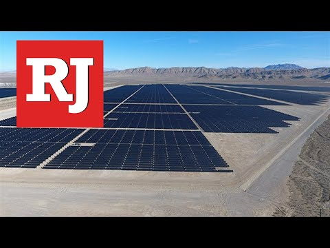 Utility scale solar power plant commissioned north of Las Vegas